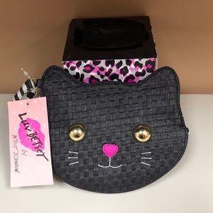 NWT! Betsey Johnson Black Cat Wristlet 🖤🎃🧡